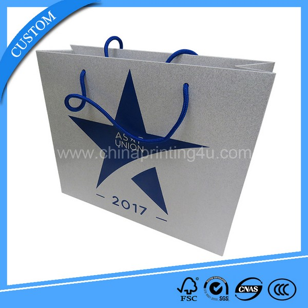 Paper Bag With Ribbon Handle