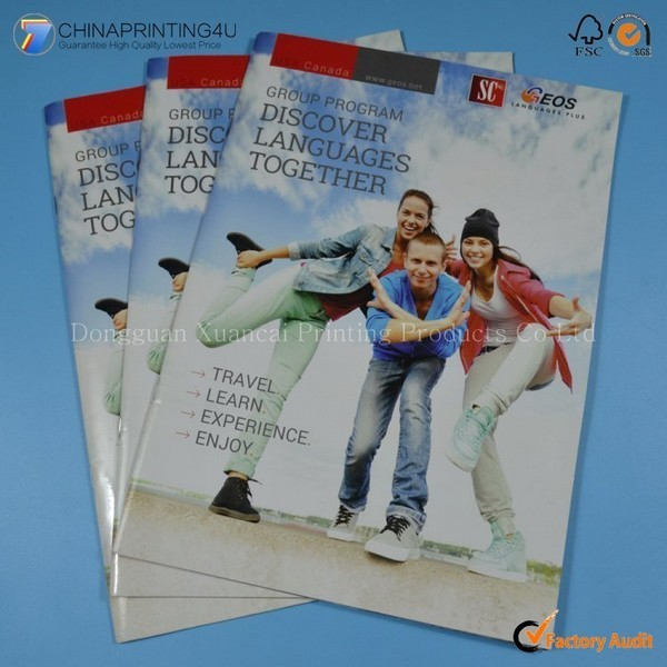 Cheap Full Color Saddle Stitching Magazine Printing