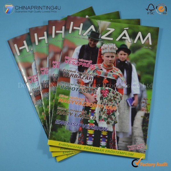 Custom Colorful Softcover Magazine Printing In China