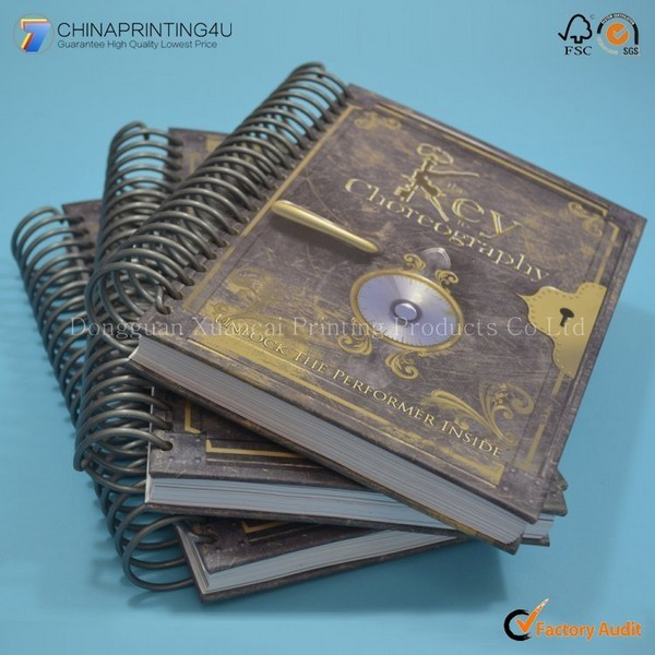 High Quality Spiral Binding Hardcover Notebook Printing