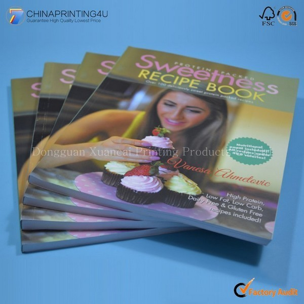 Free Sample Softcover Cookbook Printing In China