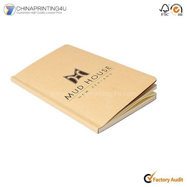 China Factory Low Cost Kraft Paper Notepad Printing