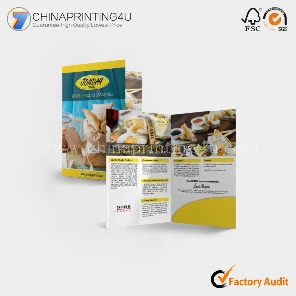 China Factory Cheap Flyer Printing Custom Paper Flyer