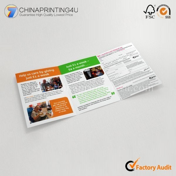 Promotional Luxury Flyer Printing Brochure Printing Cheap