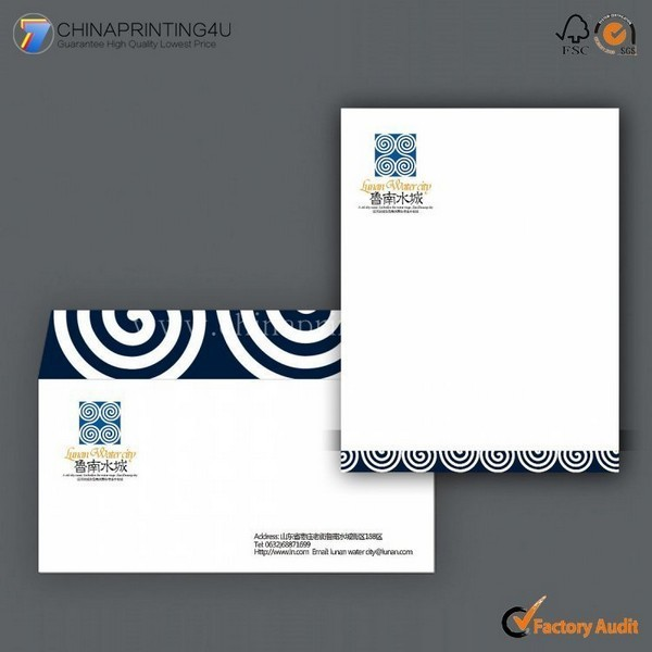 Professional Printing Commercial Envelop/Letterhead In China