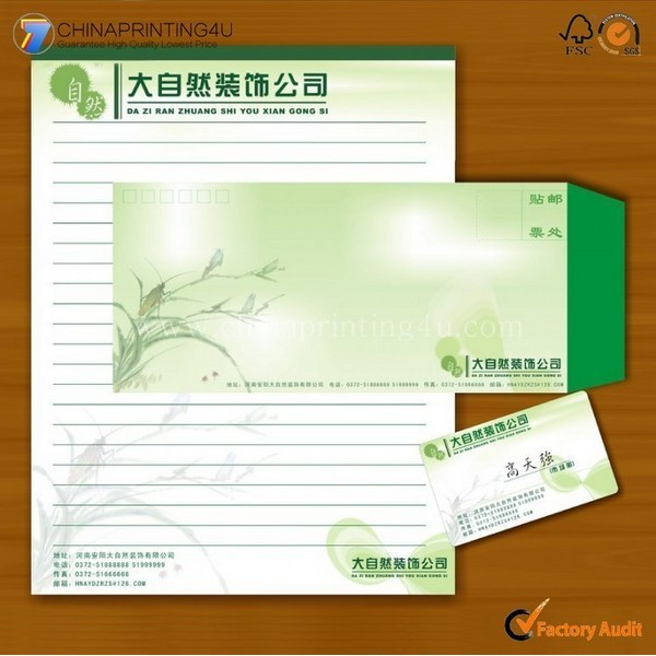 Promotional Luxury Envelop/Letterhead Printing Cheap Price