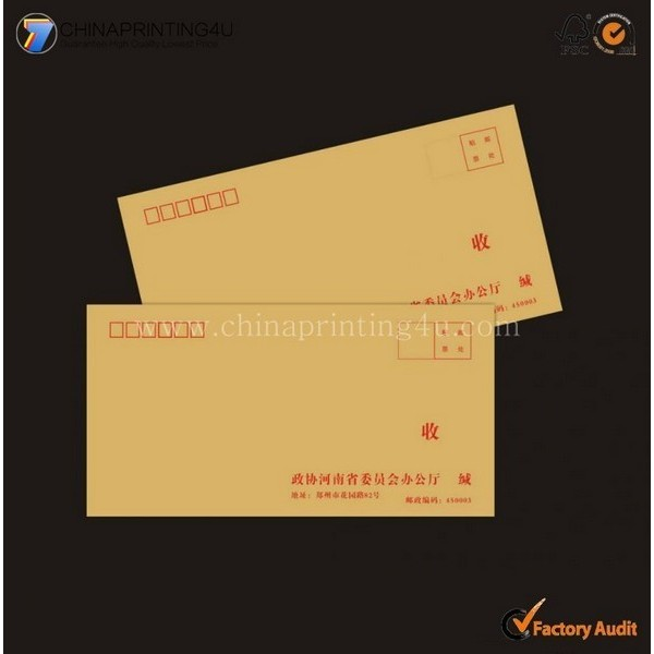 Custom High Quality Factory Price Envelop Printing