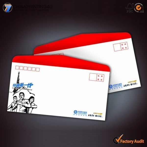 Cheap Colorful Customized Size Envelop Printing China