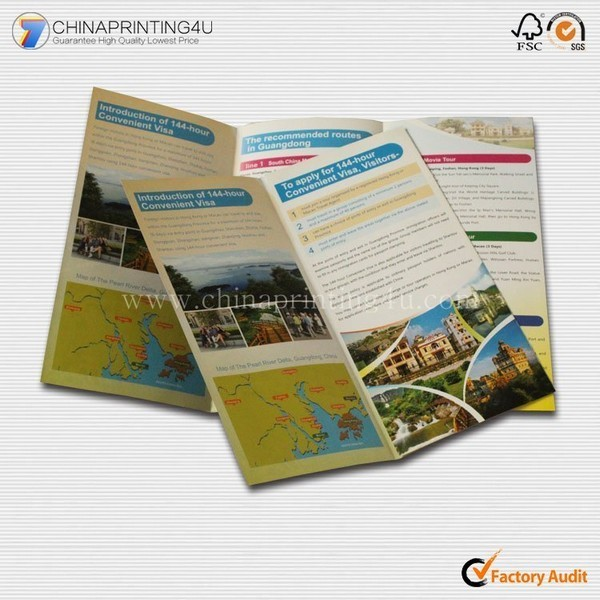Cheap Price Pocket Folded Travel Guide Brochure