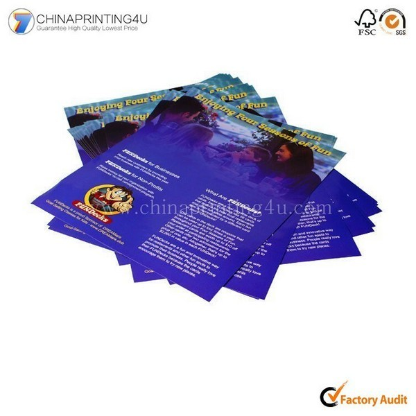 China Factory Low Cost Customized Colorful Leaflet Printing