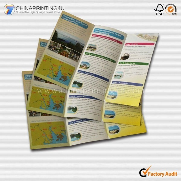Customized English Travel Guide Leaflet Printing China