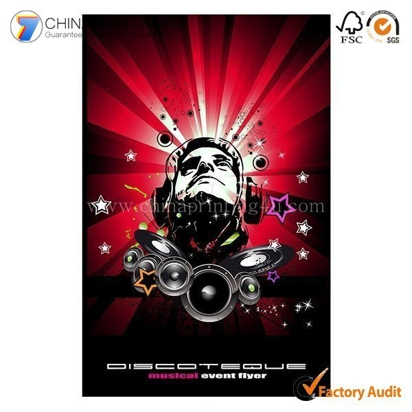 2016 Fashion Commercial Paper Poster Printing China