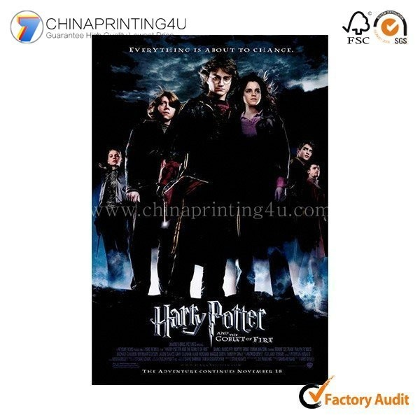 Custom Design High Quality Manufacture Movie Poster Printing