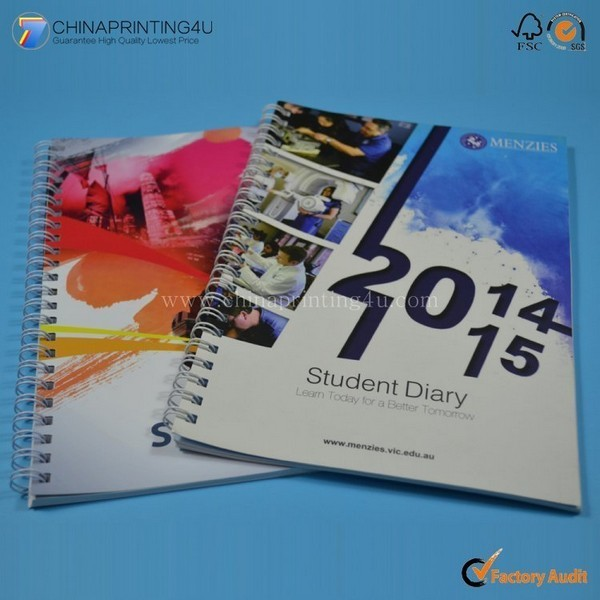 High Quality Spiral Binding Notebook Printing Cheap Price