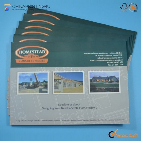 High Quality Full Color Glossy Paper Pamphlet Pritning