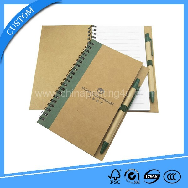 Cheap Printing Eco Notebook Custom Logo Recycled Book