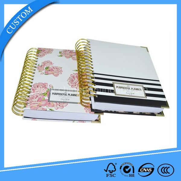 Custom Printing Full Color Spiral Book High Quality