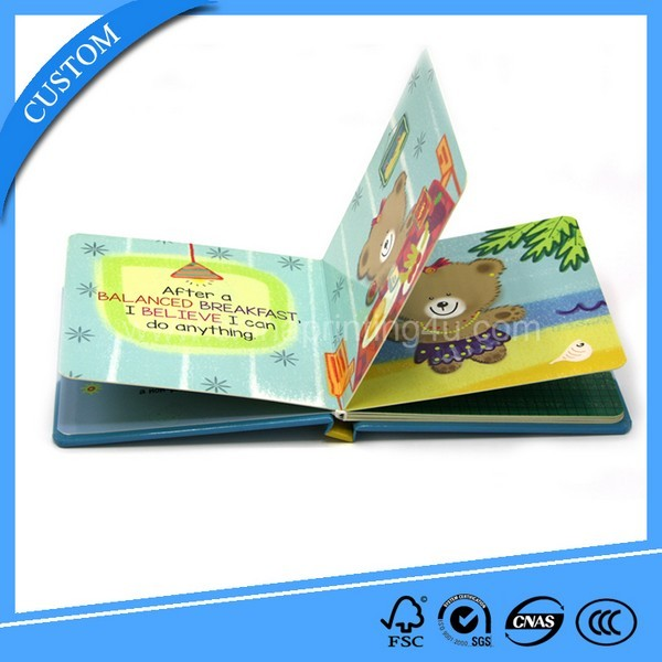 New Custom Coloring Cardboard Book Printing In China