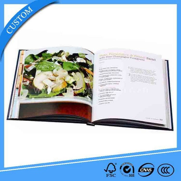 Hardcover Sewing Binding Full Color Cookbook Printing