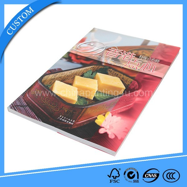 Cheap Customized Fascinating Food Magazine Printing China