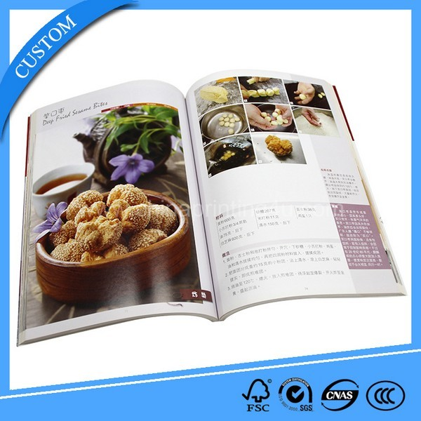 Customized Fascinating Food Book Printing High Quality