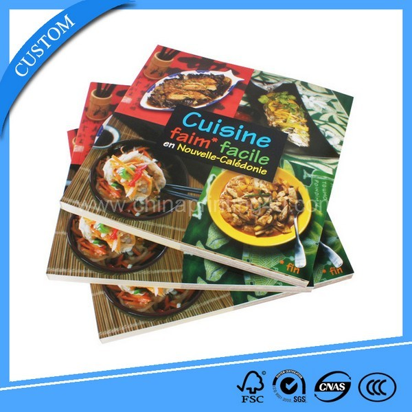 High Quality Softcover Cooking Book With Cheap Price