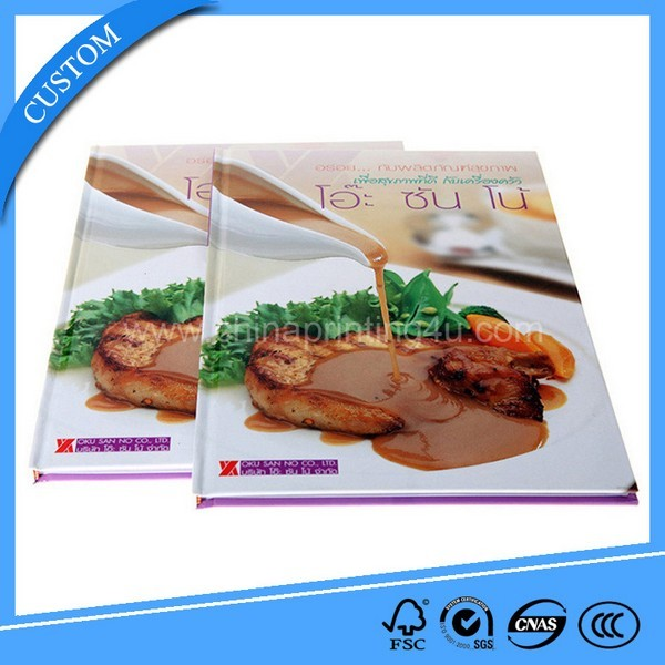 China Customized Hardcover Good Quality Print Food Book