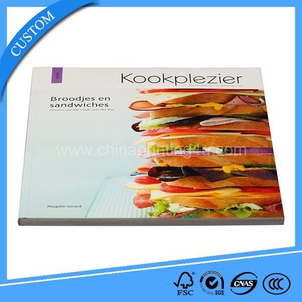 Fashionable Cook Book Receipt Book Printing Service