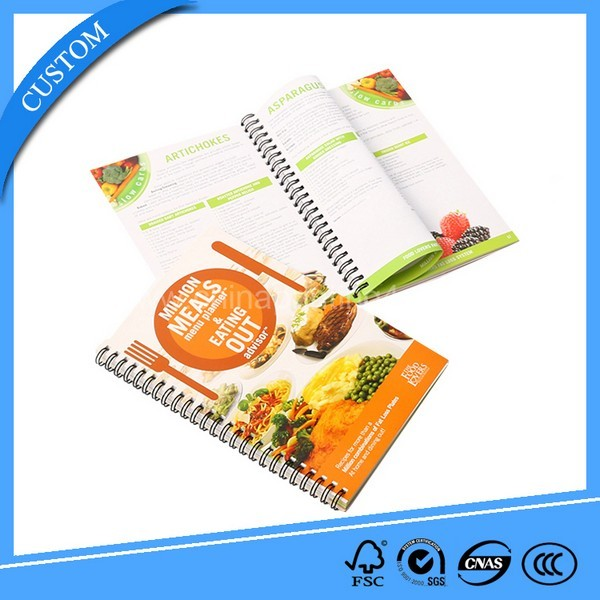 Custom Wire O Binding Cheap Cooking Books China