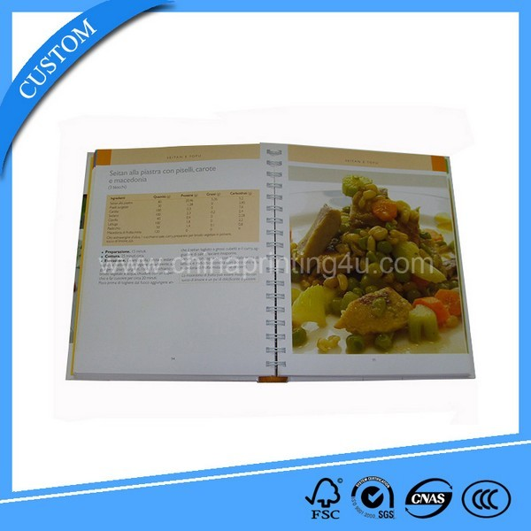 High Quality Printing Cooking Books With Spiral Binding