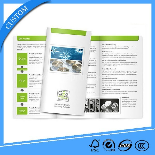 Cheap Price Factory Customized Fold Brochure Printing