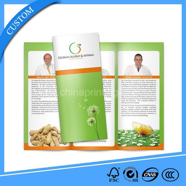 2017 China Factory Customized Fold Brochure Printing