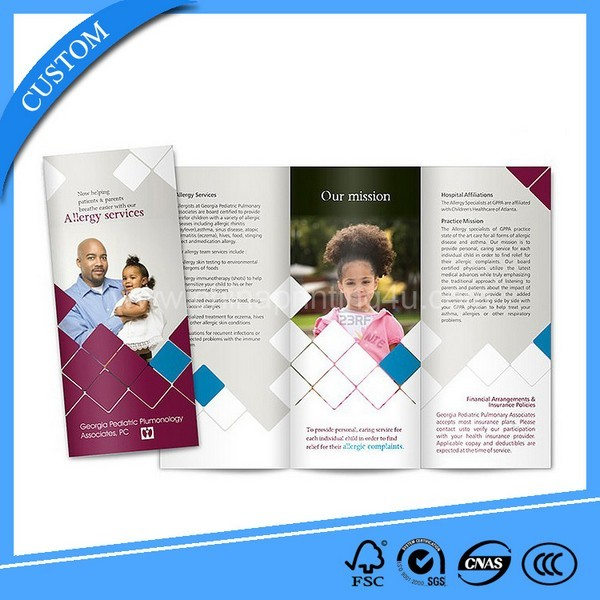 SGS Certification Factory Customized Fold Brochure Printing