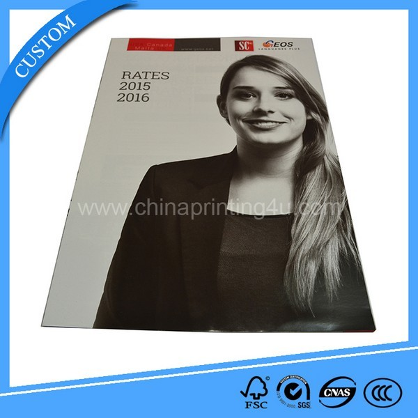 China Factory Custom Offset Full Color Printing Magazine