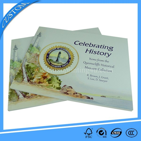 Professional Horizontal Perfect Bound Softcover Book Printing China