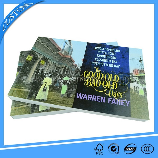 China Printing Factory Custom Printing Soft Cover Book