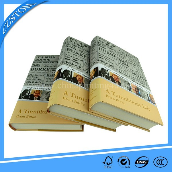 Customized Round Spine Hardcover Book Printing With Jacket