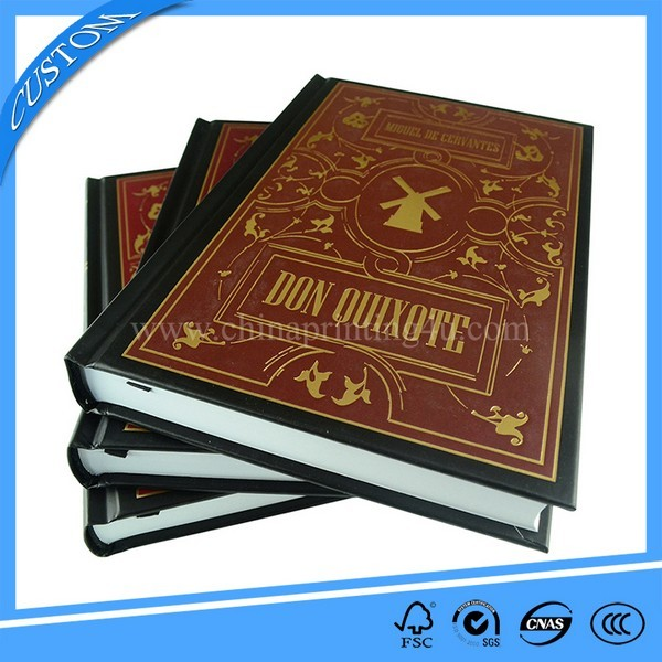 Customized Round Spine Gold Foil Hardcover Book Printing
