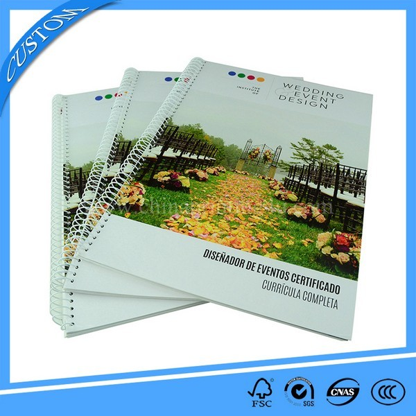 High Quality Spiral Binding Soft Cover Book Printing