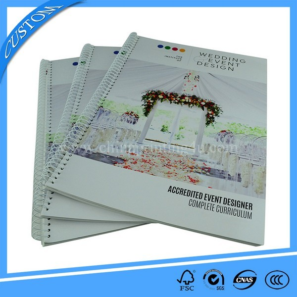 Custom Design Print Spiral Binding Books In China