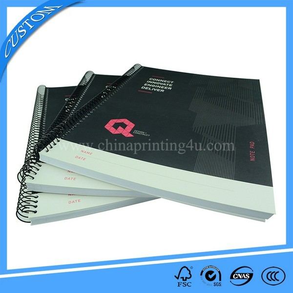 China Factory Hardcover Printing Spiral Binding Note Book