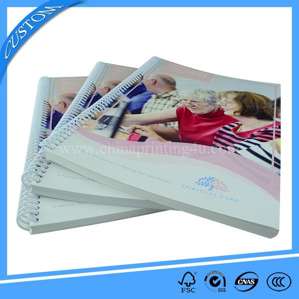 Custom Design Spiral Binding Soft Cover Book Printing