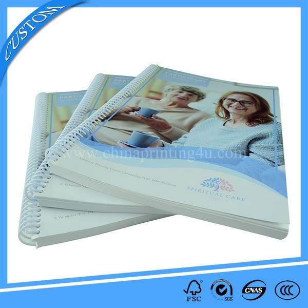 China Printing Factory Professional Spiral Binding Book Printing