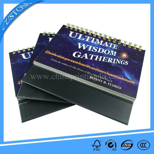 Custom Printing Service Spiral Binding Book Printing China