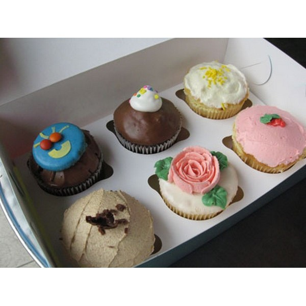 Paper Cupcake Box With Window