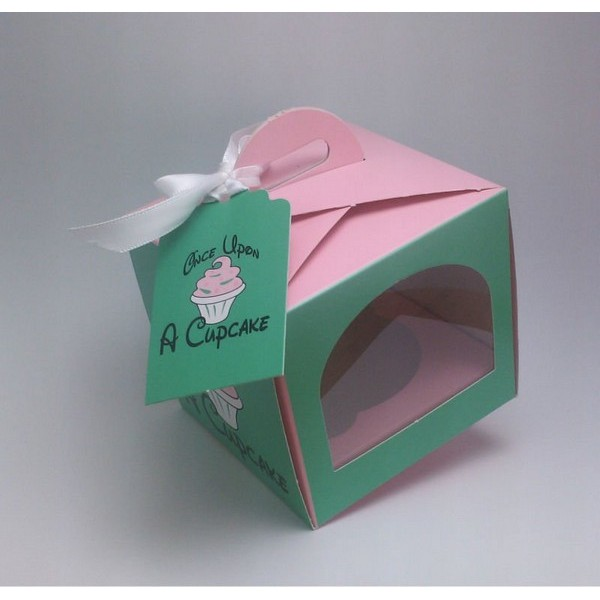Recycled Printed Paper Cupcake Box