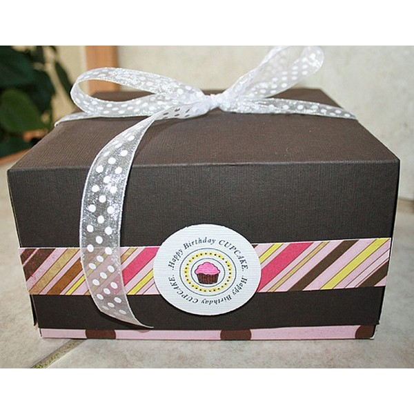 Transparent Window Cupcake Box