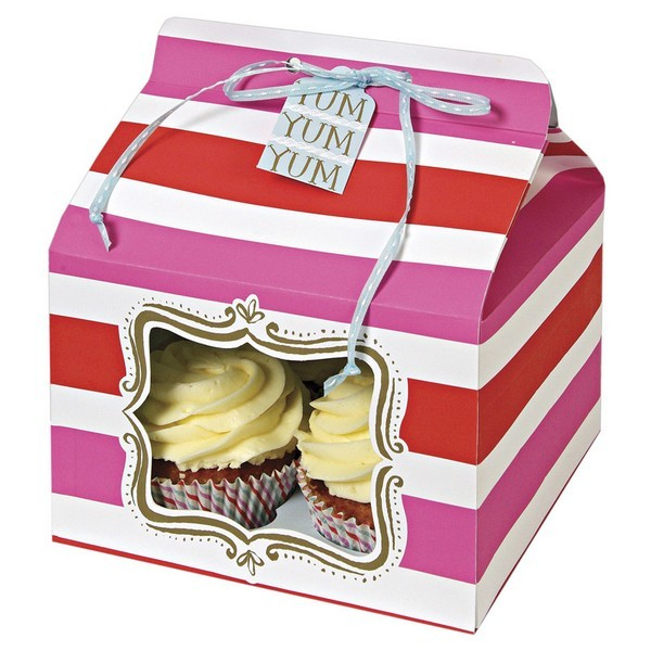High Quality Cheap Paper Cupcake Box