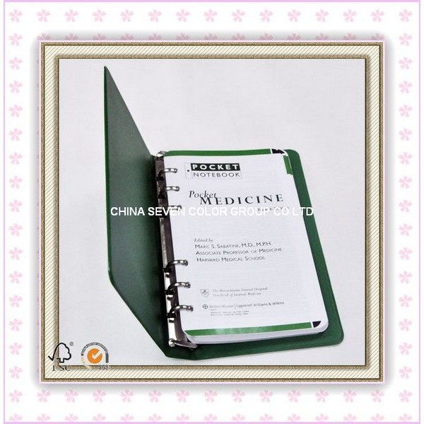 4D Binder Journal,Spiral notebook,Leather Agenda