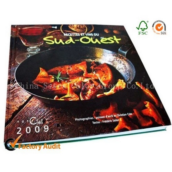 Customized Printing Hardcover Cooking Book